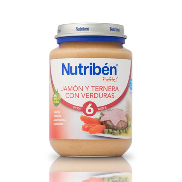 NUTRIBEN JAMON TERNERA VERDURA POTITO JUNIOR 200 G